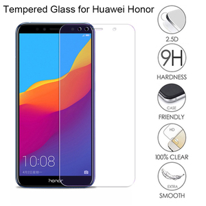 2Pcs Protective glass for Honor 7C 7A Full cover Tempered Film for huawei Honor 10i lite 9x 8A 8X 20 Pro p10 lite p20 p30 lite