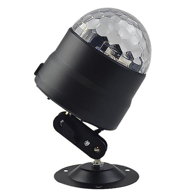 BRIGHTINWD New Dj Voice Control USB Mini Led Stage Light Disco Ktv Bar Room Family Party Crystal Small Magic Ball Light Flash 1