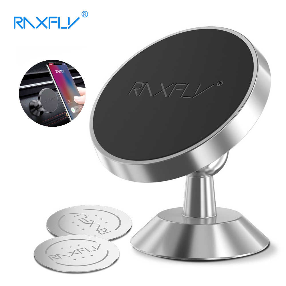 RAXFLY Magnetic Holder For Phone In Car 360 Rotation Stand Universal Car Mobile Hold Strong Magnet For iPhone Xiaomi Redmi Note7