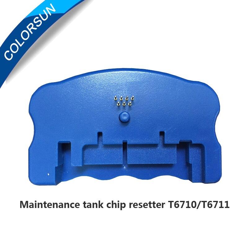 T6710 T6711 Wartung Tank Chip Resetter Für Epson WP-4010 WP-4015 WP-4525 WP-4530 WP-4540 WF-5110 WF-7110 WF-7610 PX-B750F