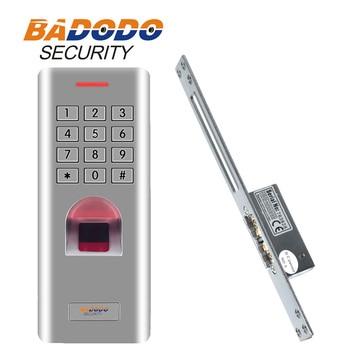 Waterproof keypad fingerprint reader Door Gate Lock Electric Strike Fail safe/Fail secure adjustable for access control