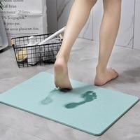 Diatomaceous Bath Mat Fast Drying Absorbent Bathroom Rug Mat Durable Earth Floor Door Bathtub Shower BathMats Carpet for Toilet