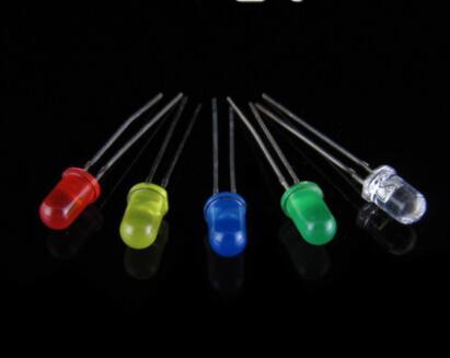 1000pcs 5mm Green 8000mcd Flat Top LED Lamp Wide Angle Ultra Bright Leds New