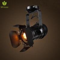 1 Pcs Mrosaa Rétro Minimaliste LED Plafond Lumière 220 V E27 noir Intérieur LED Lampe pour les Vêtements Boutique Bar Art Exposition Studio