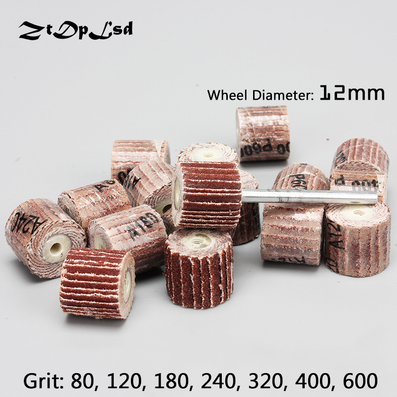 ZtDpLsd 20 Pcs/lot 12*11*3mm Sanding Flap Disc Grinding Flap Wheels Brush Sand Rotary Tool Accessories For Abrasive Tools