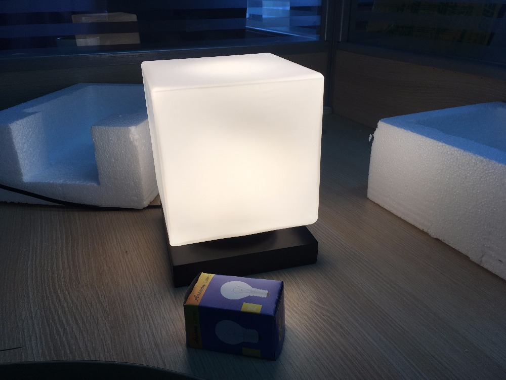 Online Shop Modern Brief Glass Wood Study Room Table Light Adjustable  Frozen Ice Cube Table Lamp Bedside Living Room E27 Desk Light | Aliexpress  Mobile