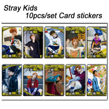 10pcs/set Stray kids KPOP photo cards stickers album sticky adshesive kpop Stray kids lomo card photocard sticker SKD00701 все цены