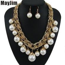 Эффектное ожерелье 2018 модные жемчужные комплекты ювелирных