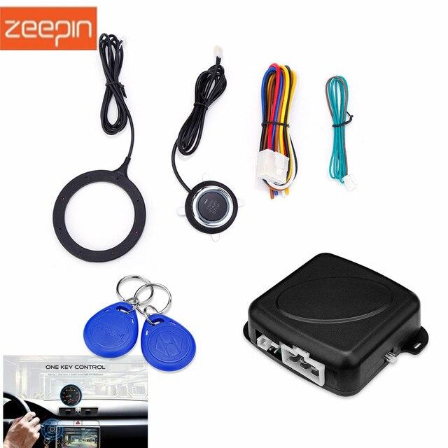 GY902C Car Anti-theft System Engine Push Start Button Stop RFID Lock Ignition Switch Keyless Entry Immobilizer Burglar Alarm