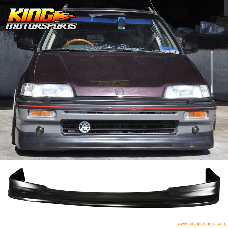 For 88 89 90 91 Honda Civic Zenki Z Style Front Bumper Lip Spoiler