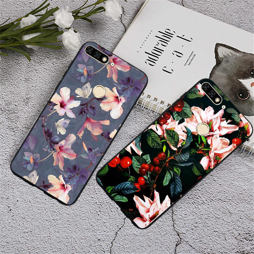 For Huawei Honor 9 Lite 10 Honor 8 9i 7A 7C 7X 6A 6C 6X Phone Case Luxury Marble Geometric Design Soft Silicone Case Cover Funda