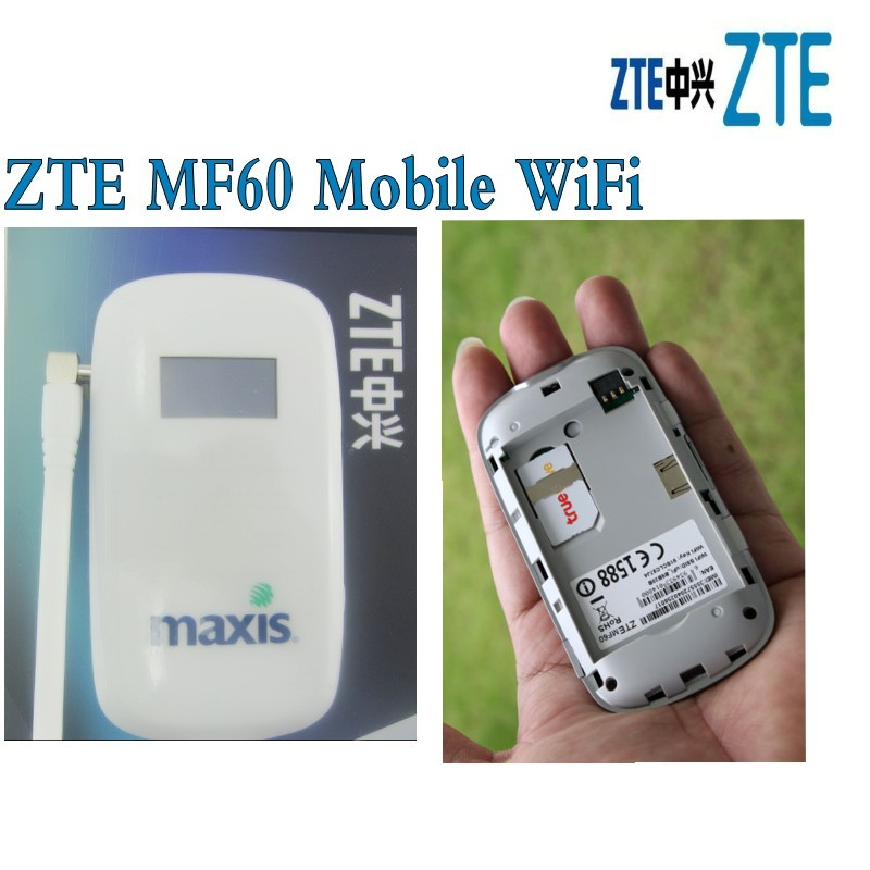 Lot of 20pcs <font><b>ZTE</b></font> <font><b>MF60</b></font> MiFi Mobile Wifi Hotspot Unlocked SimFree 2G 3G HSUPA HSDPA UMTS 21Mbps plus 3g antenna image