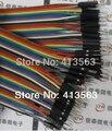 40 pcs 21 cm 2.54mm Dupont fio Linha cabo 1 p-1 p pin conector 30418