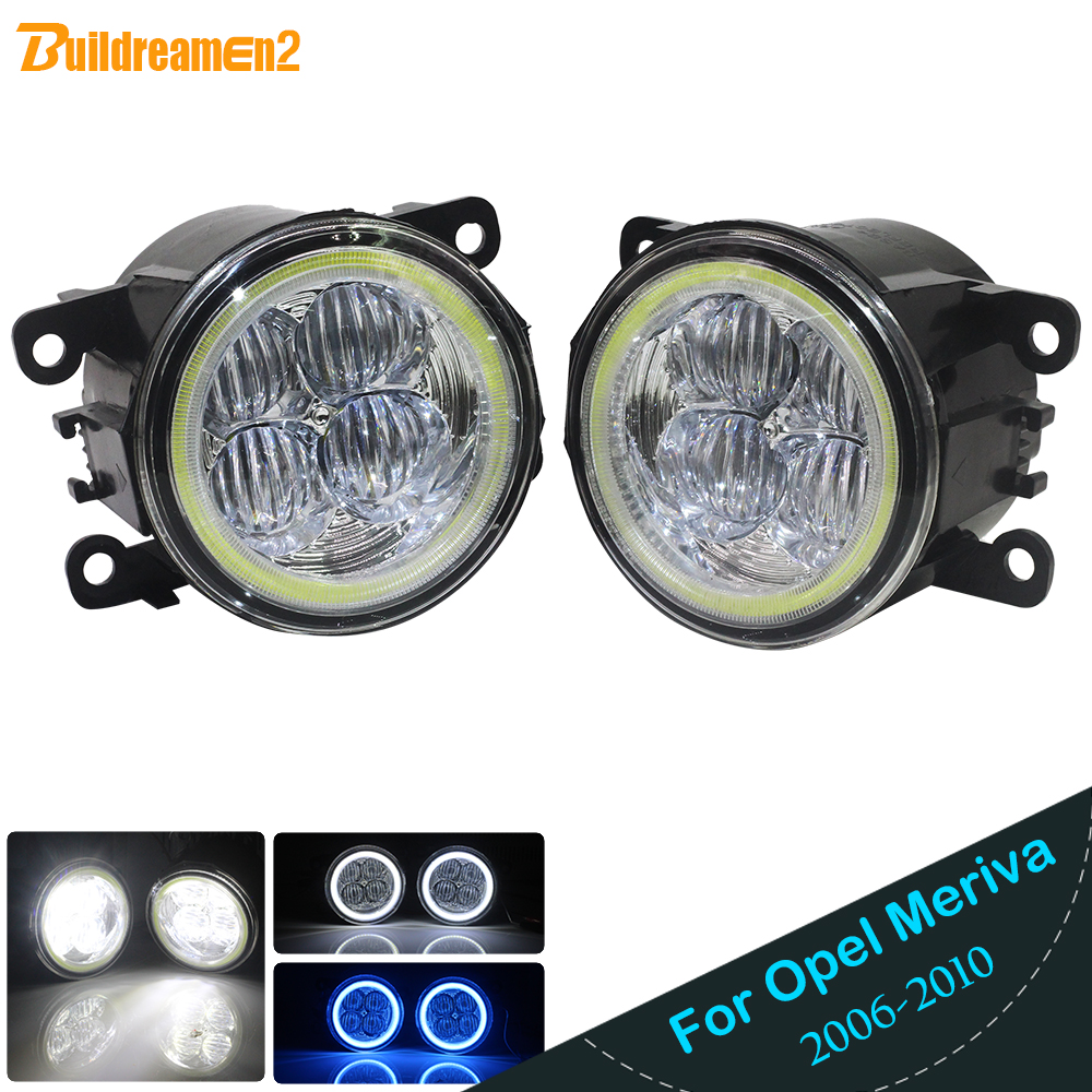 Buildreamen2 Car H11 LED Bulb Fog Light Angel Eye DRL Daytime Running Light 12V For Opel