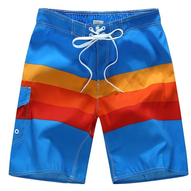 2017 Fashion Colorful Sea Shorts Men Loose Comfortable Costumi Da Mare Uomo Pantaloncino Light Quick Dry Swimwear Masculino