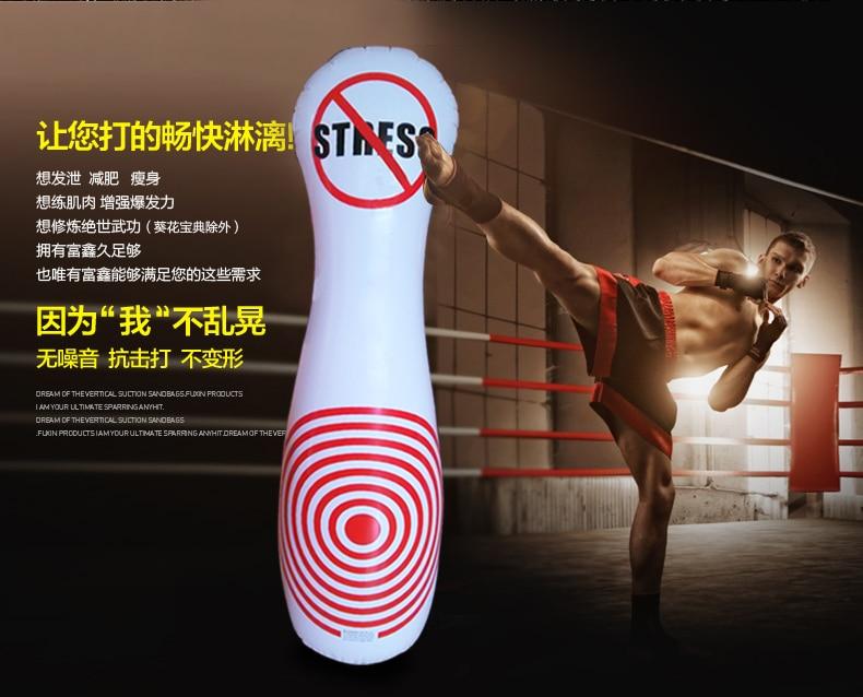 Inflatable Boxing Sanda Sandbags Adult Children Household font b Entertainment b font Fitness Vent Toys Interesting
