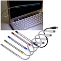 New Mini Flexible 10 LEDs USB Light Computer reading Lamp for Notebook Laptop Computer Desktop PC Keyboard Wholesale