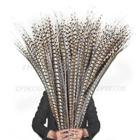 Wholesale 55 110 CM/22 44 Inch natural Lady amherst tail pheasant feather Carnival Costumes Party Home Wedding Decorations