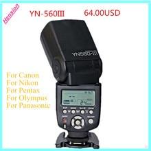 Yongnuo yn560 yn-560 iii yn560iii iii manual speedlite luz de flash para canon nikon pentax panasonic cámaras dslr