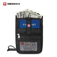Swisswin Hộ Chiếu Wallet Anti-trộm An Ninh Ví Du Lịch Cho Nam Giới và Phụ Nữ Cổ Pouch cho các trình điều khiển giấy phép Thẻ Lên Máy Bay ch