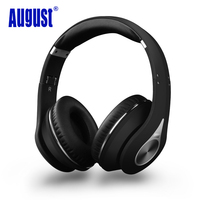 August EP640B Wireless Bluetooth Headphones With Microphone NFC Over Ear BT4 1 HiFi Stereo APTX Headset
