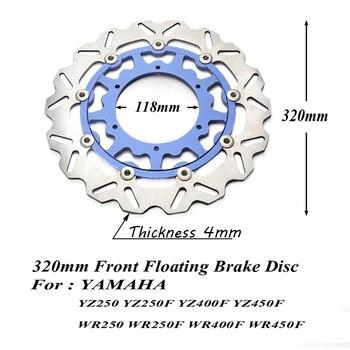 Disco de freno flotante 320 + soporte para YZ125 YZ250 YZ250F YZ400F YZ426F YZ450F WR125 WR250 WR250F WR400F WR400F WR426F WR450F super