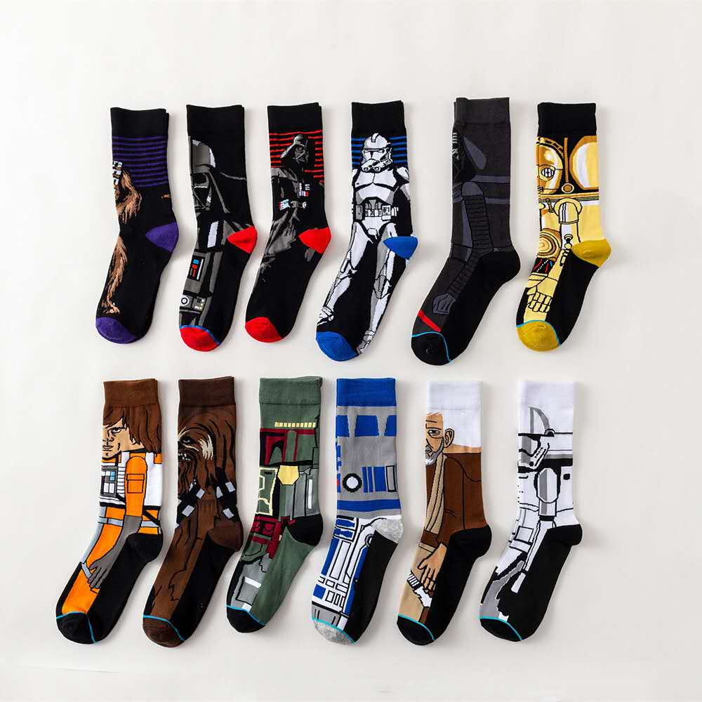 NEW 2018 Hot Movie Star Wars   Socks   For Adult Men Women Jedi Order Master Yoda Cosplay Cotton Funny Tide Long Star War   Socks