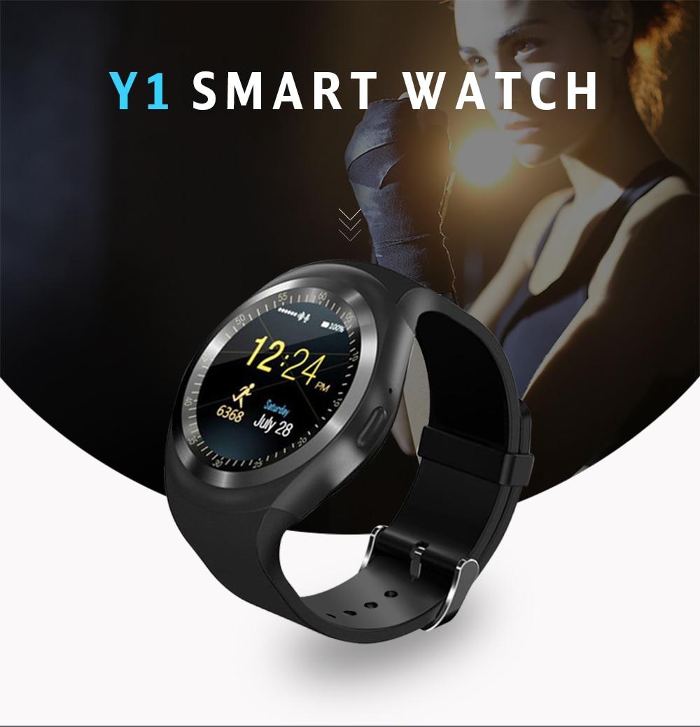 c1ca70e60092 696 Bluetooth Y1 inteligente reloj Android SmartWatch llamada de ...