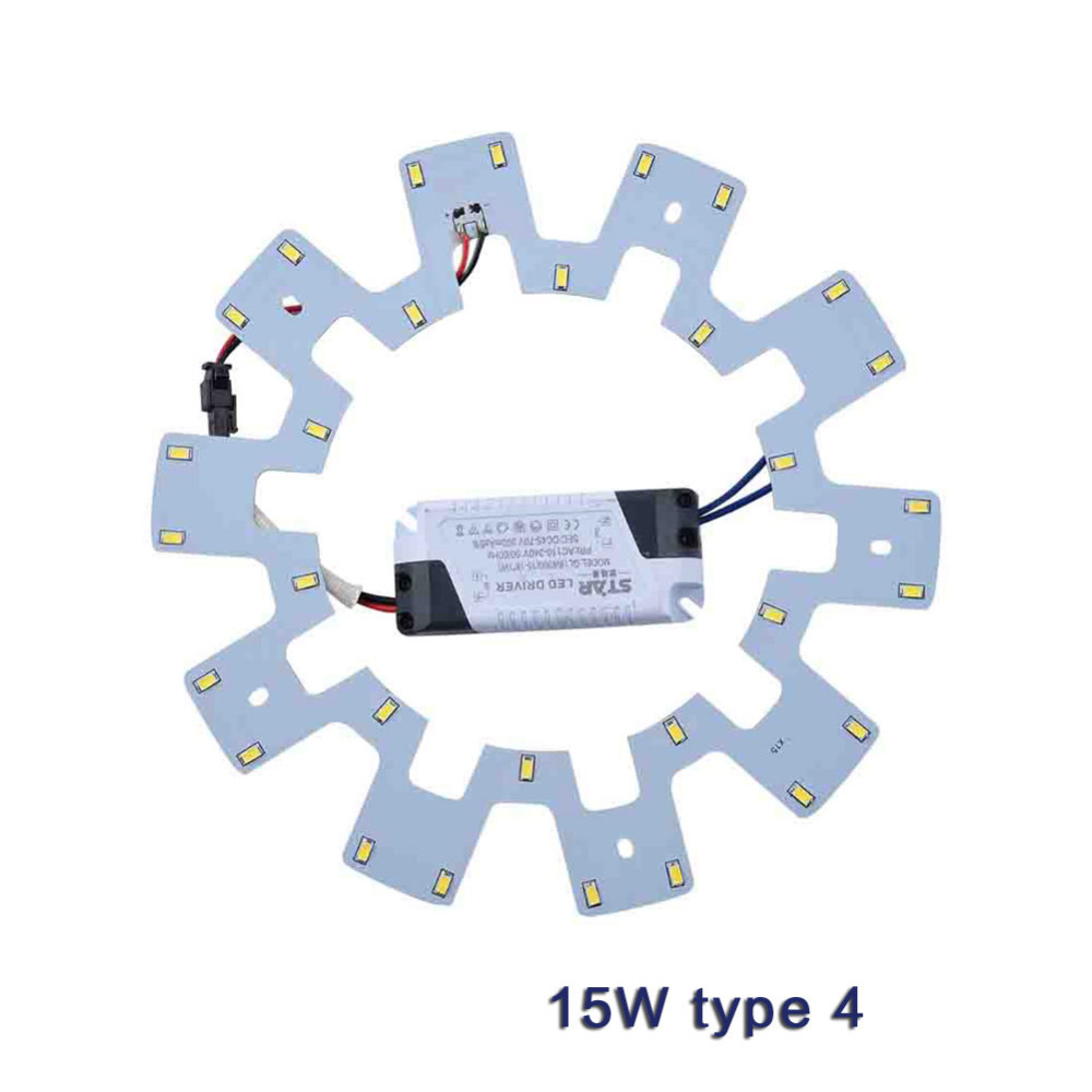 Ceiling Lights DIY LED Light Source PCB Board 7W 10W 15W 20W 5730 110V 220V Kit+Driver for Round Kitchen Bedroom LED Panel Light 20pcs 12w led light panel smd 5730 ic driver pcb input voltage ac110v 130v needn t driver aluminum plate free shippping