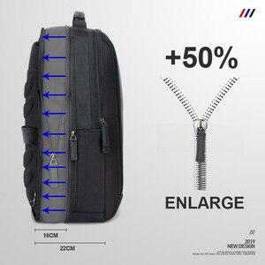 Рюкзак BOPAI мужской, для ноутбука 15,6'', водонепроницаемый с USB-зарядкой и защитой от кражи