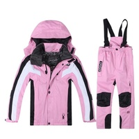 Boys and girl Ski Sets Winter Waterproof Windproof Kids Ski Jacket Children Outdoor Warm Hooded Snowboard Sports Suits