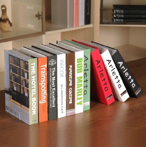 Glorieus 10 St Boek Bridal Fotografie Studie Simulatie Boekenkast Props Simulatie Nep Nep Box Mold Decoratie Boek Duidelijke Textuur