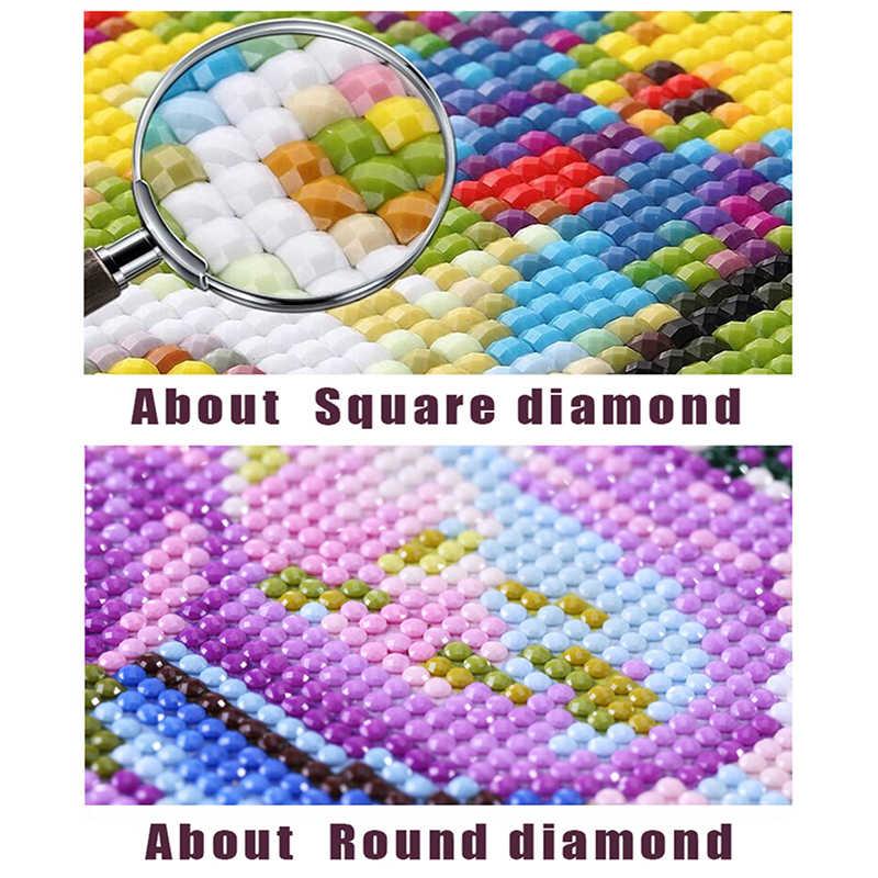 """Persegi/Bulat Bor 5D DIY Diamond Lukisan Cross Stitch """"Dream Menangkap Wolf"""" 3D Diamond Bordir Mosaik berlian Imitasi Hadiah"""