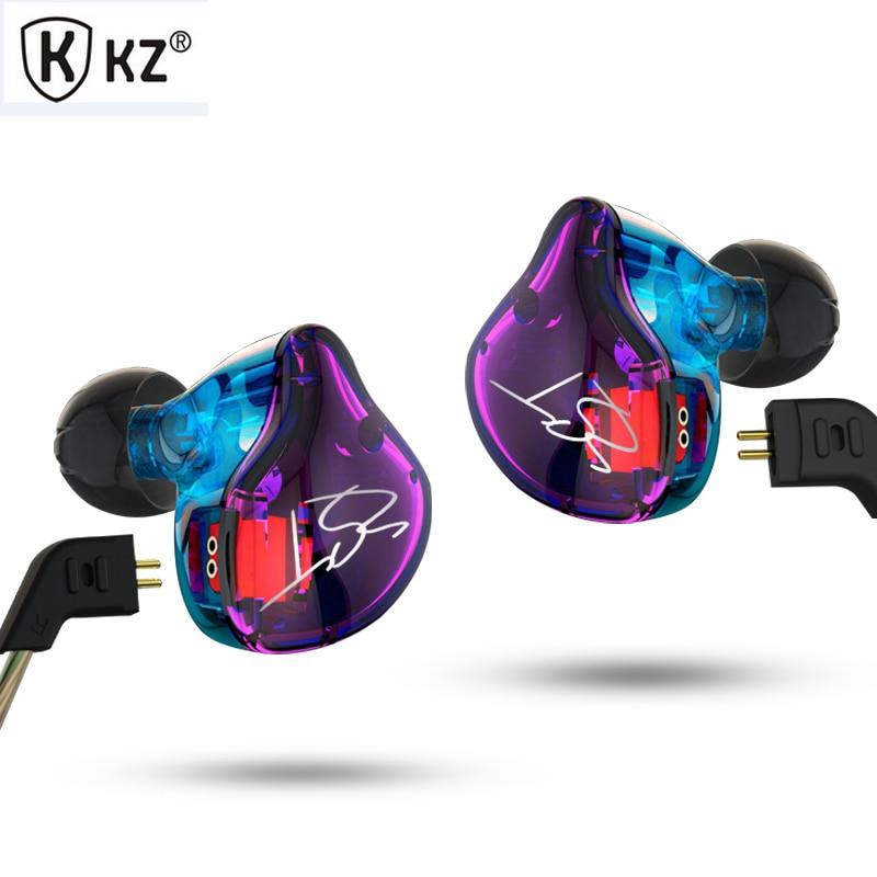 Hot KZ ZST 1DD+1BA Hybrid In Ear Earphone HIFI DJ Monito Running Sport Earphones Earplug Headset Earbud With Microphone original urbanfun earphone 3 5mm in ear earbuds hybrid drive earphones with microphone hifi auriculares with monitor earplug