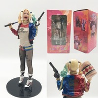 18cm Movie Suicide Squad Harley Quinn Figure Batman Begins Arkham PVC Action Figures Collectable Model Toy