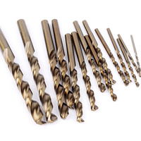 15PCS Set Drill High Speed Steel Twist Drill Bits Woodwork Drilling Tools High Speed Steel Cobalt