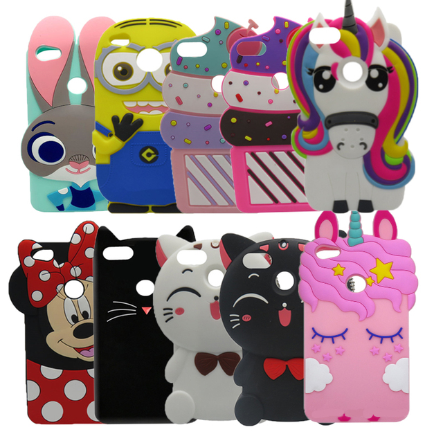 release date: 73906 2a751 US $3.05 15% OFF|Redmi Y1 Lite Case Cupcake 3D Silicon Cartoon unicorn Cat  Minnie Soft Phone Back Cover Case For Xiaomi Redmi Y1 Lite 5.5 inch-in ...