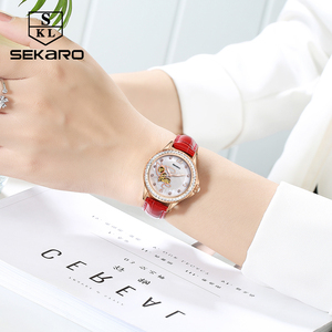 Image 5 - SEKARO נשים קרמיקה ריינסטון שעון אהבת עיצוב נשים של שעוני יד למעלה מותג יוקרה נשים שעונים מתנה Relogio Feminino