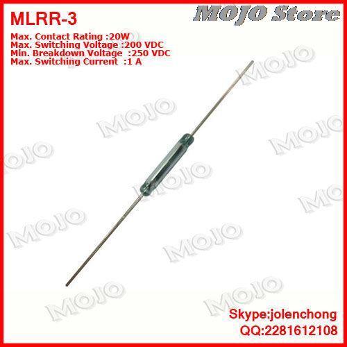 Бесплатная доставка MDRR-DT США HAMLIN геркон 2.5X14 ММ N.C/N.O Зеленого стекла 3 футов герметичный тростника переключатели