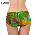 FORUDESIGNS Cat Underwear Women Panties Plus Size Briefs 3D Printing Panties Breathable Intimates Girls Lingerie