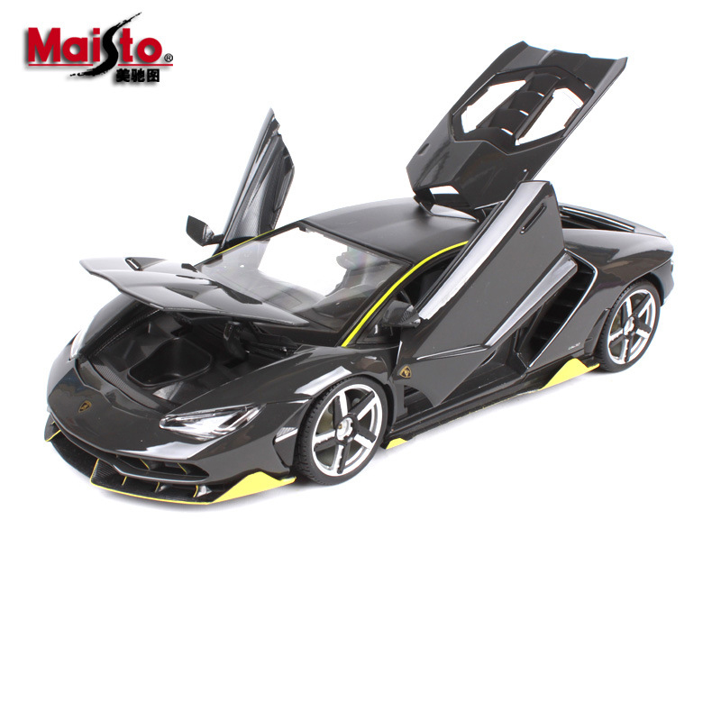 1/18 Original  Maisto LP770-4 Car Model Alloy metal Diecast Simulation Children Toys Gifts Collections Red and Black 1 18 scale red jeep wrangler willys alloy diecast model car off road vehicle model toys for children gifts collections