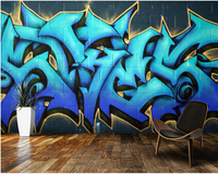 Custom 3D Art Wallpaper Graffiti Murals For Apartment Hotel Residential Background Wall Vinyl Papel De Parede