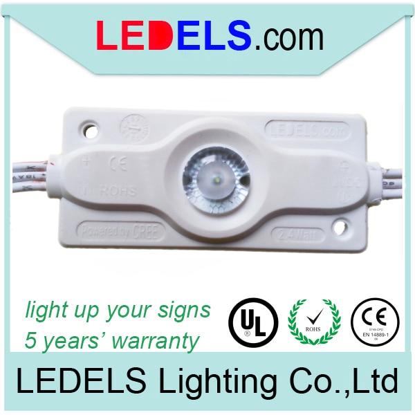 5 gadu garantija, 2.4W 200lm 12v Cree noveda pie gaismas kastes apgaismojuma LED MODULIS LIGHT milzīgā 3D vēstulē