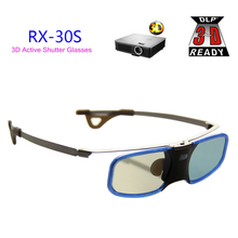 Free Shipping 3D DLP Projector TV Aluminum Active Shutter Glasses with Clip for Myope For BenQ