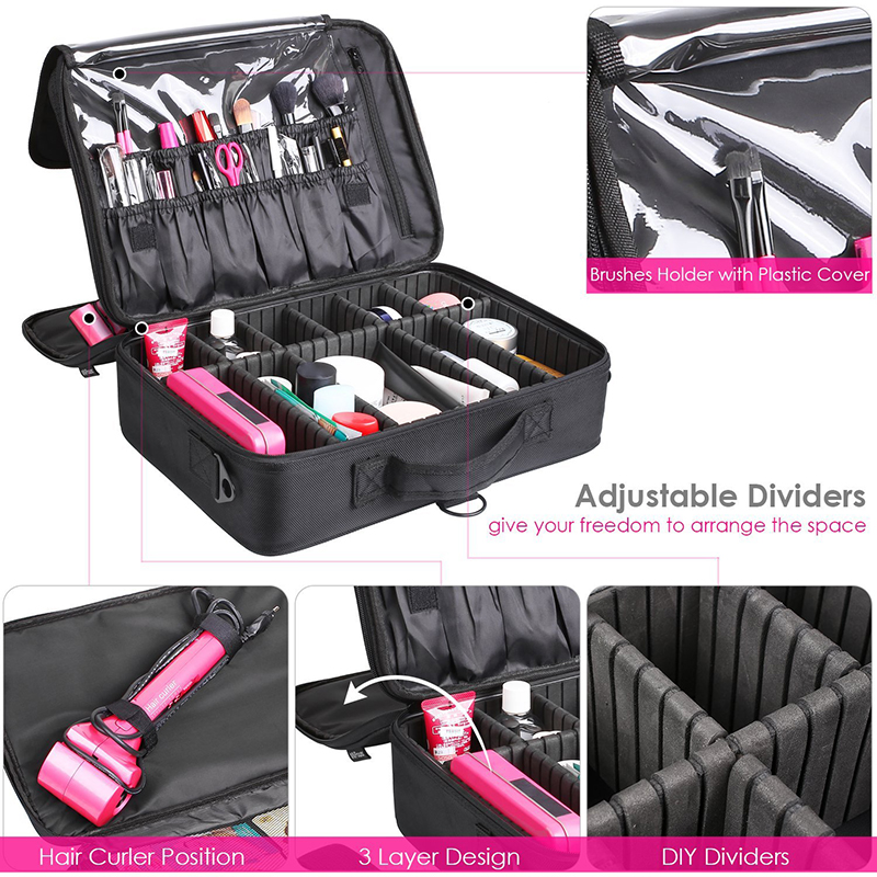 Luggage & Bags ... Special Purpose Bags ... 32791583092 ... 3 ... LHLYSGS Brand Cosmetic Case Suitcases Multi-storey Large Professional Makeup Bag Women Beauty Storage Organizer Cosmetic Bag ...