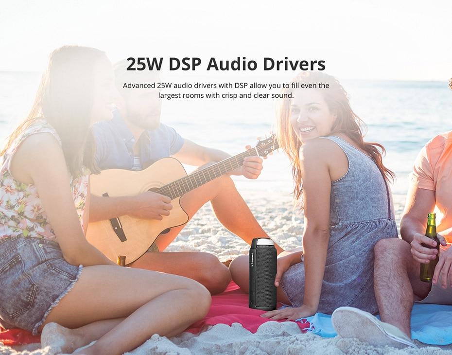 Tronsmart Element T6 Bluetooth 4.1 Altavoz portátil Receptor de audio de barra de sonido inalámbrica Mini altavoces USB AUX para música MP3 Player5