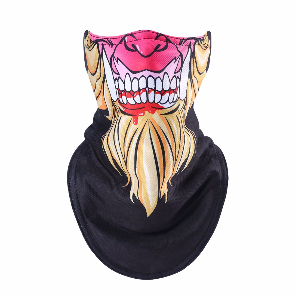 winter balaclava cycling Sports equipment skull mask warmth half mask Windproof neck warmer mask male sport face shield
