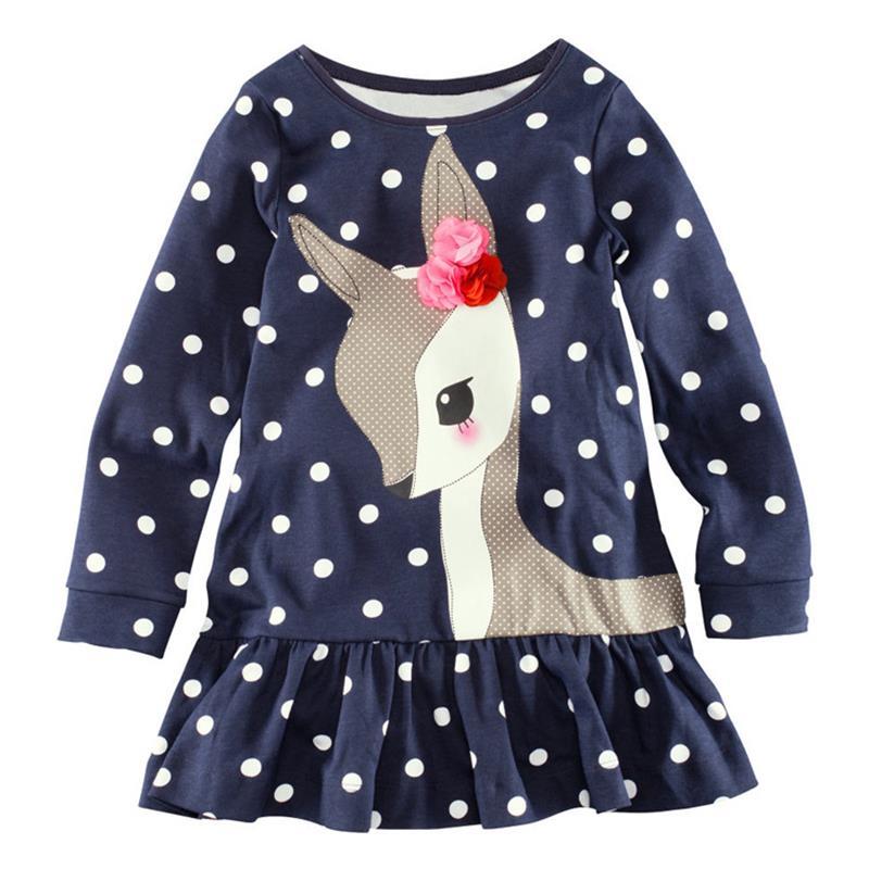 Camiseta para niñas Primavera Otoño Algodón bebés vestidos para - Ropa de ninos