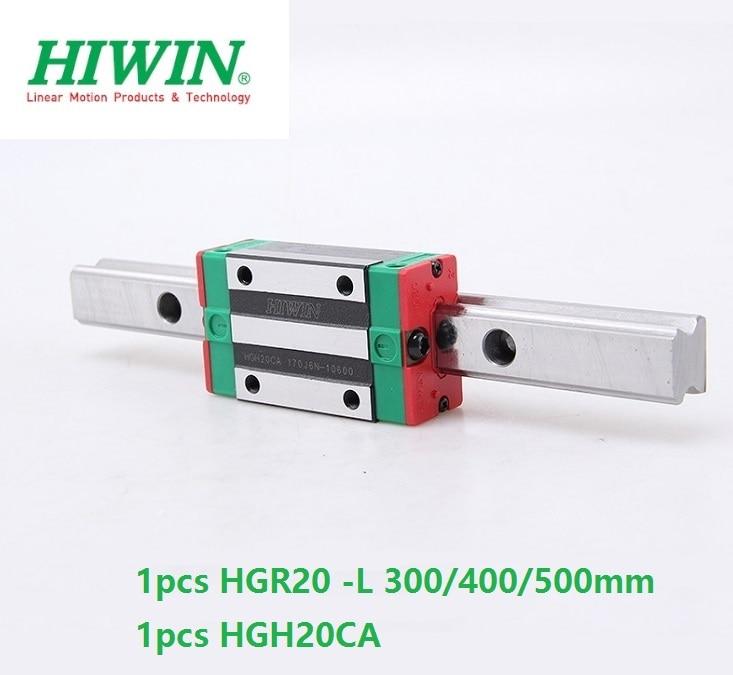 1pcs Original Hiwin Rail HGR20 -L 300mm 400mm 500mm + 1pcs HGH20CA Or HGW20CA(HGW20CC) Block