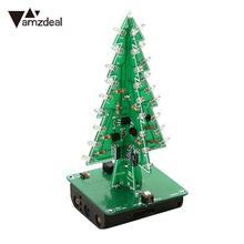 AMZDEAL трехмерный 7 цветов 3D Рождественская елка светодиодный набор вспышки трехмерный цветной яркий RGB светодиодный подарок